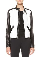 Ralph Lauren Bismarck Twotone Leather Jacket - Lyst