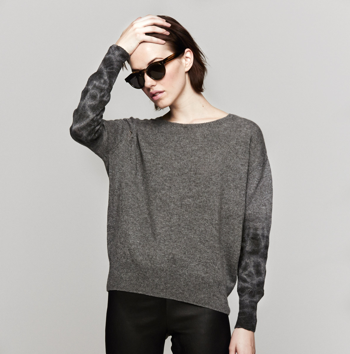 Raquel allegra Pullover Sweater in Gray | Lyst