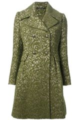 Tagliatore Jacquard Double Breasted Coat - Lyst