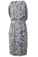 Thakoon Draped Backless Patterned Dress - Lyst