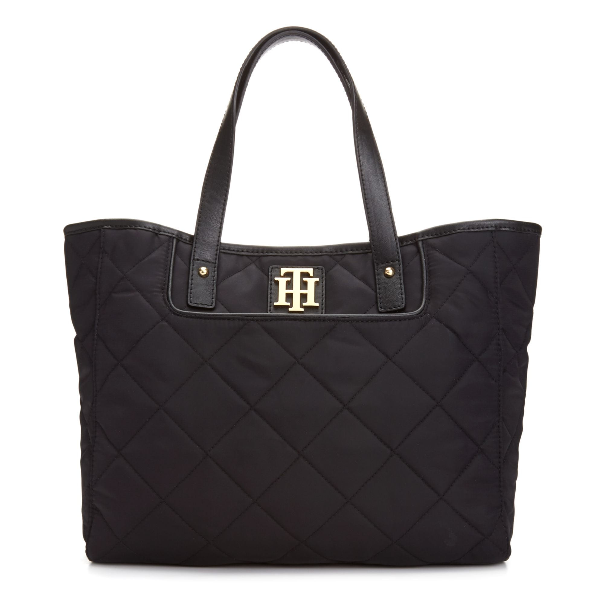 ae4e7a3c768 Lyst - Tommy Hilfiger Signature Quilted Shopper in Black