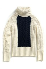 Tommy Hilfiger Chunky Cable Turtleneck - Lyst