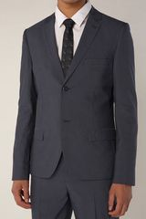 Topman Navy Pindot Two Button Skinny Suit Jacket - Lyst