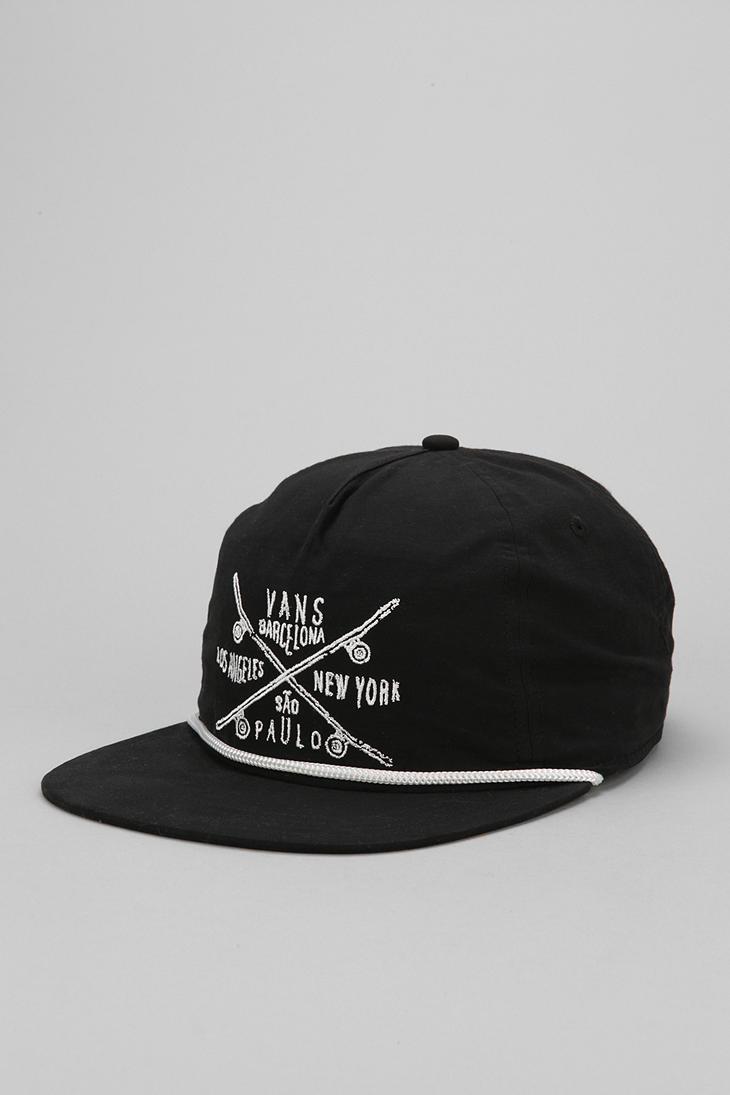71d20f3705d Lyst - Urban Outfitters Vans Wanderer Skate Team Snapback Hat in ...