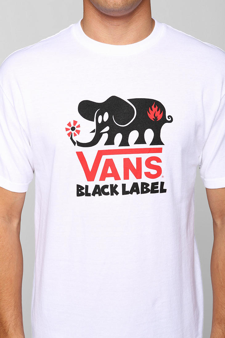 65133638f3 Lyst - Urban Outfitters Black Label Skateboards Tee in White for Men