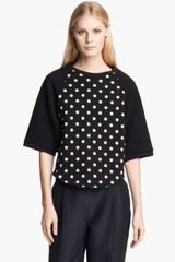 3.1 Phillip Lim Polka Dot Terry Top - Lyst