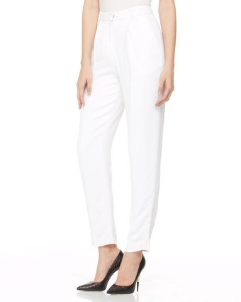 Adam Lippes Highwaist Crepe Pants White - Lyst