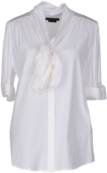 Alice + Olivia Shirt with 34length Sleeves - Lyst