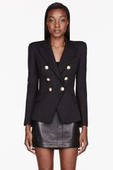 Balmain Black Double_breasted Classic Blazer - Lyst