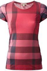 Burberry Brit Check Tshirt - Lyst