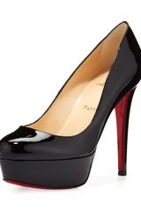 Christian Louboutin Bianca Patent Leather Platform Pump Black - Lyst