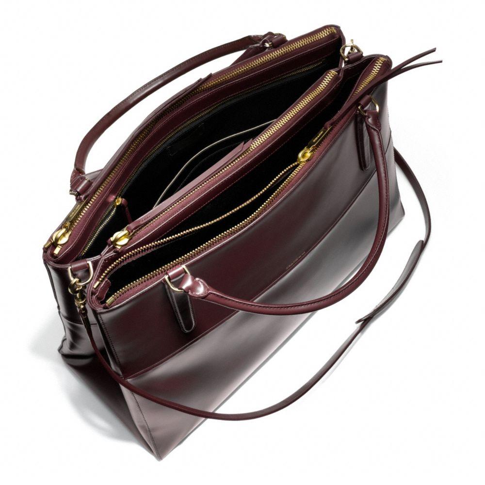 lyst coach the large borough bag in polished calfskin in black rh lyst com