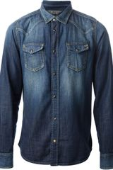 Diesel Denim Shirt - Lyst