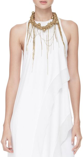 Donna Karan New York Chainfringe Collar Necklace - Lyst