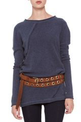 Donna Karan New York Longsleeve Fold Top - Lyst