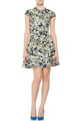 Erdem Daine Printed Capsleeve Dress - Lyst