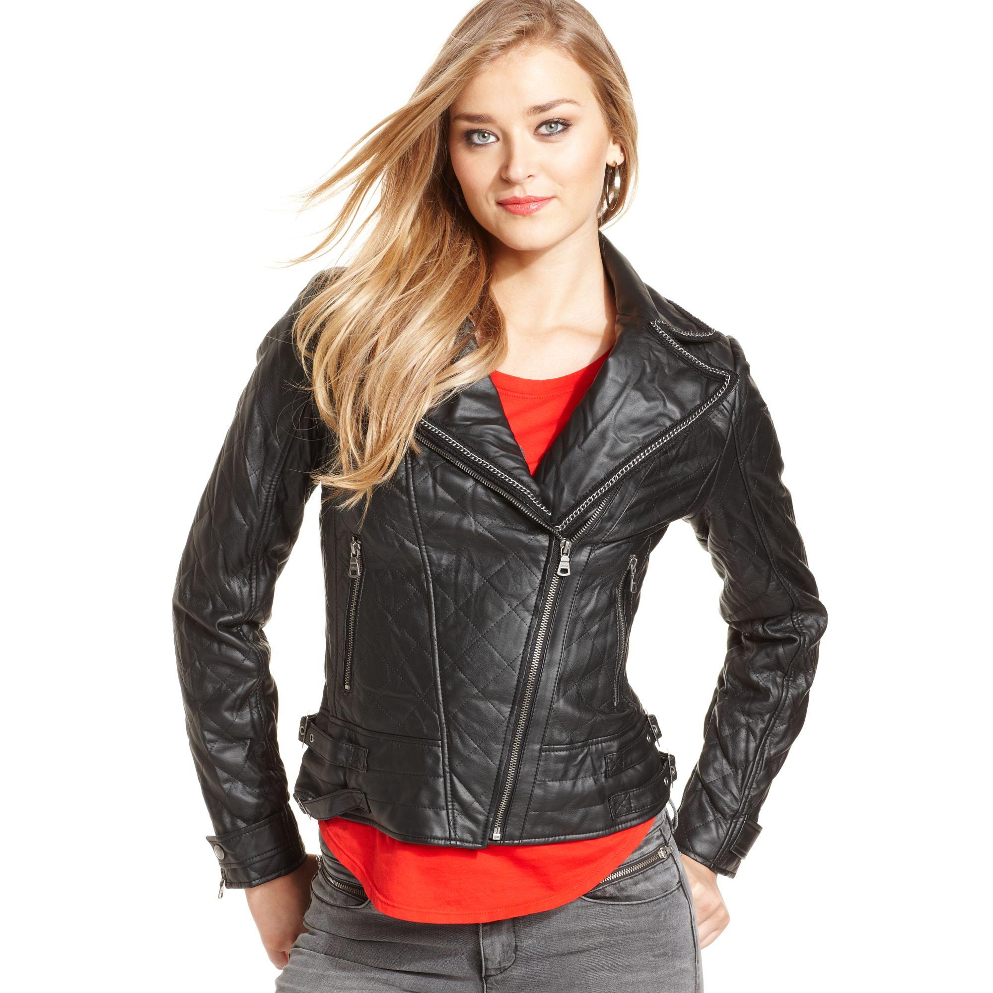 Guess Leather Moto Jacket Women S Cairoamani Com