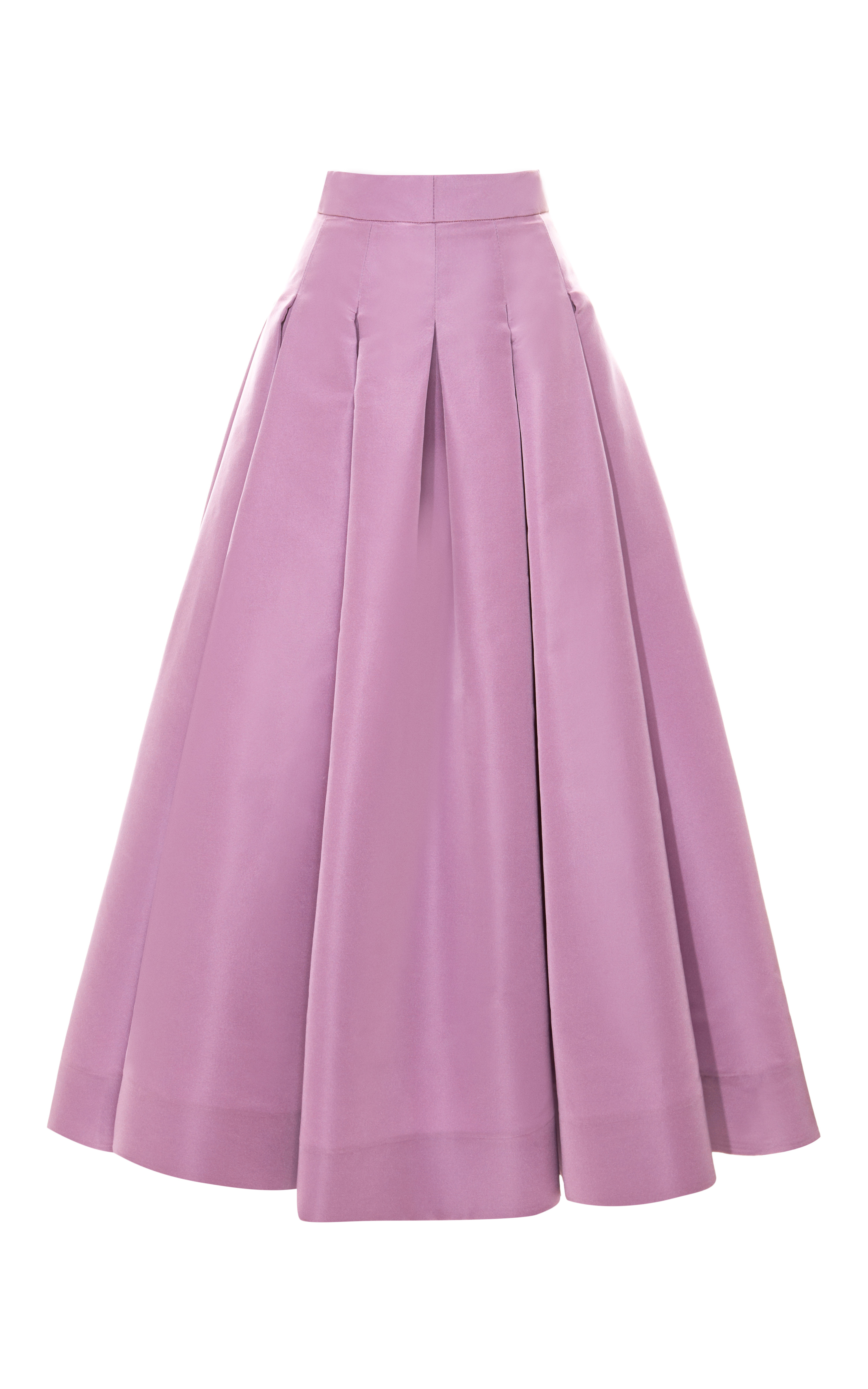 ermilio box pleat swing skirt in purple lilac lyst