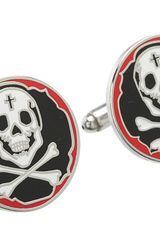 King Baby Studio Skull and Crossbones Cufflinks Bracelet - Lyst