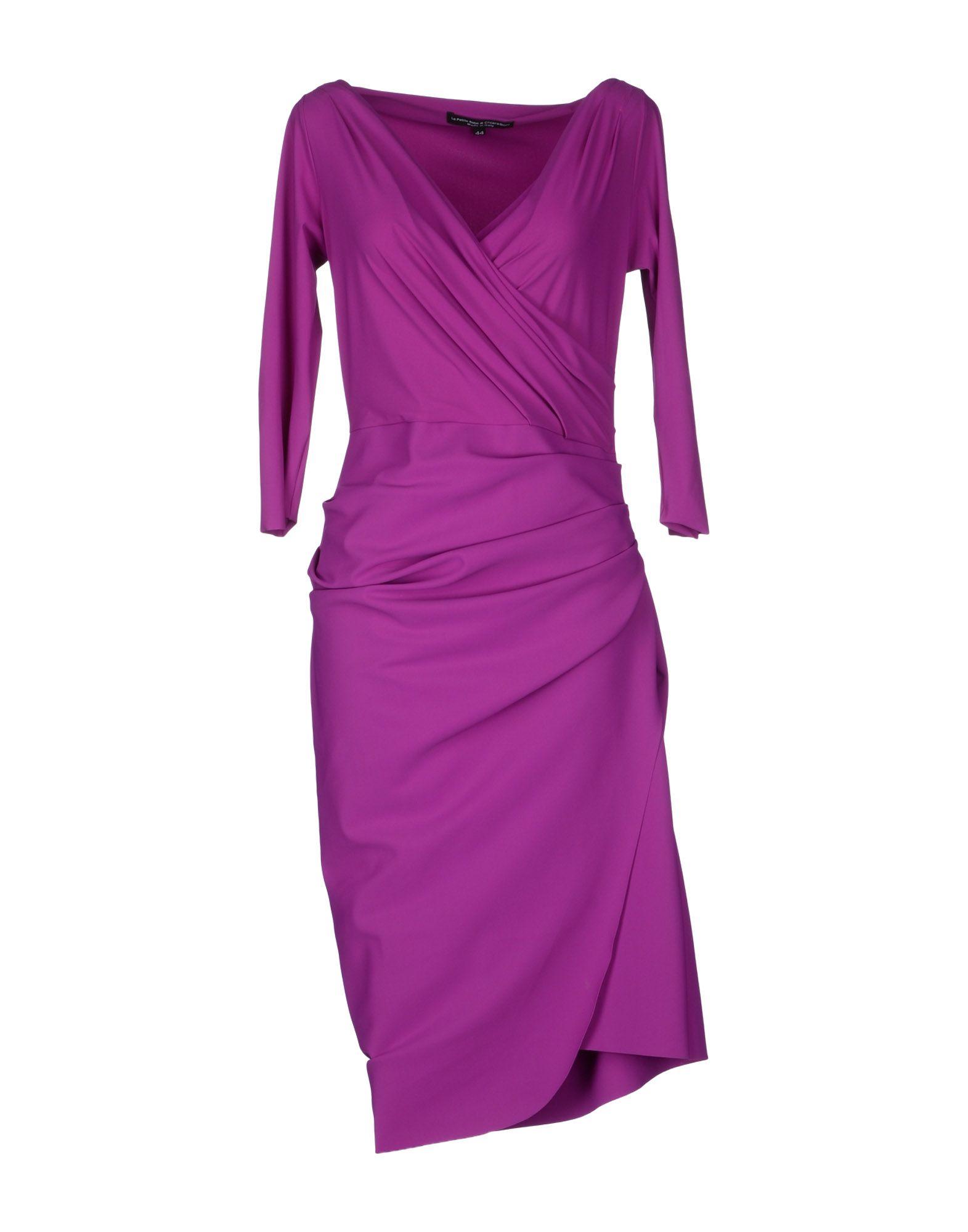 la petite robe di chiara boni kneelength dress in purple lyst. Black Bedroom Furniture Sets. Home Design Ideas
