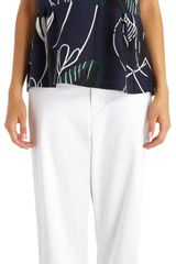 Marni Foliage Print Sleeveless Top - Lyst
