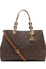 Michael by Michael Kors Medium Cynthia Logo Satchel - Lyst