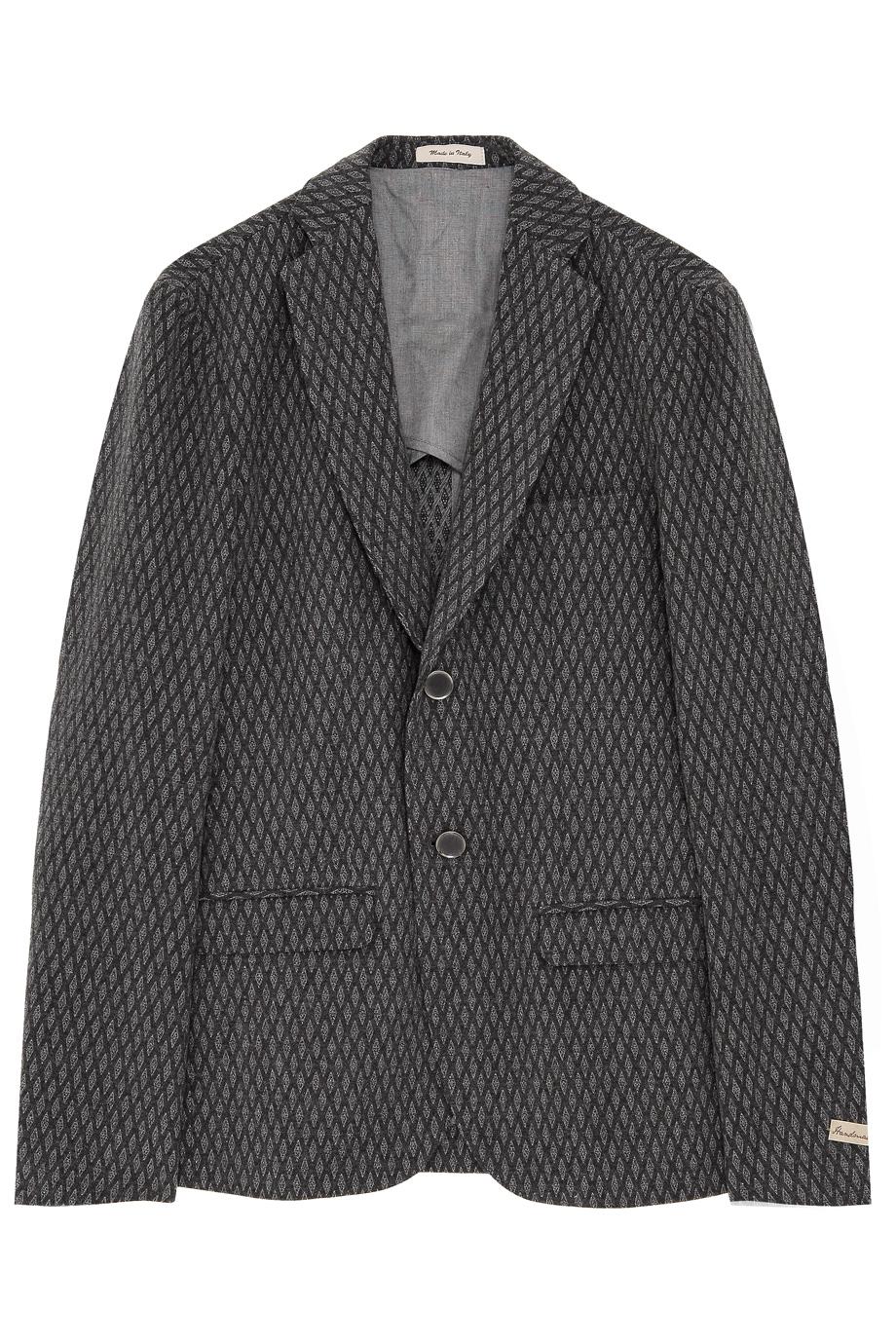 Lyst Mr Rick Tailor Diamond Jacquard Blazer In Gray