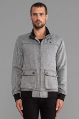Nixon Stockton Wool Jacket in Light Gray - Lyst