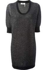 Sonia By Sonia Rykiel Embellished Sweater Dress - Lyst