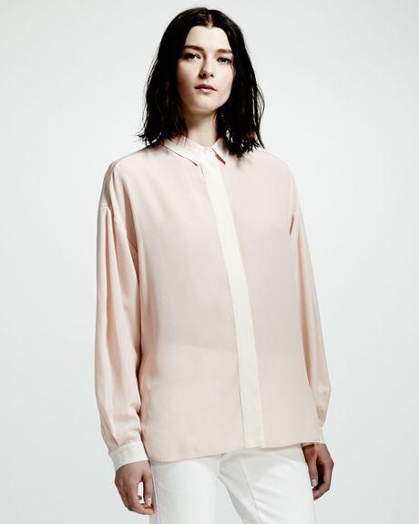 Zara Silk Covered Button Blouse 79