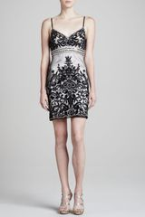 Sue Wong Spaghettistrap Beaded Dress - Lyst