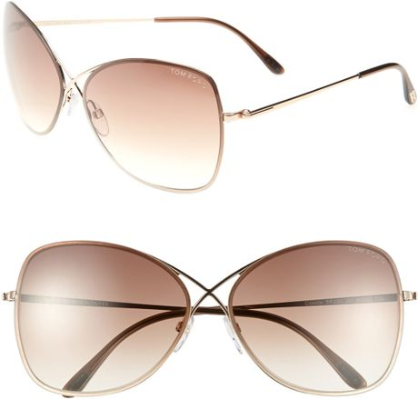 5140732fab8 Tom Ford Colette Sunglasses Rose Gold