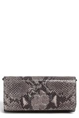 Tory Burch Thea Snake Embossed Leather Clutch - Lyst