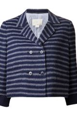 Boy by Band Of Outsiders Striped Double Breasted Jacket - Lyst