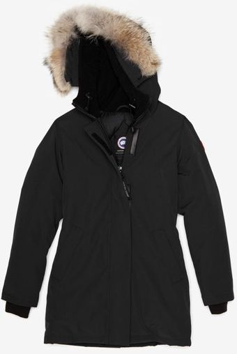 Canada Goose Removable Fur Trim Victoria Parka Black - Lyst