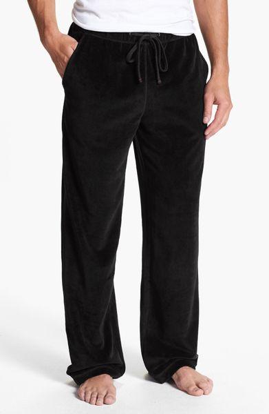 Daniel Buchler Velour Lounge Pants In Black For Men Lyst