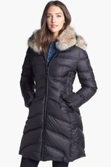 Dawn Levy Chloe Genuine Coyote Fur Trim Laceup Down Coat - Lyst