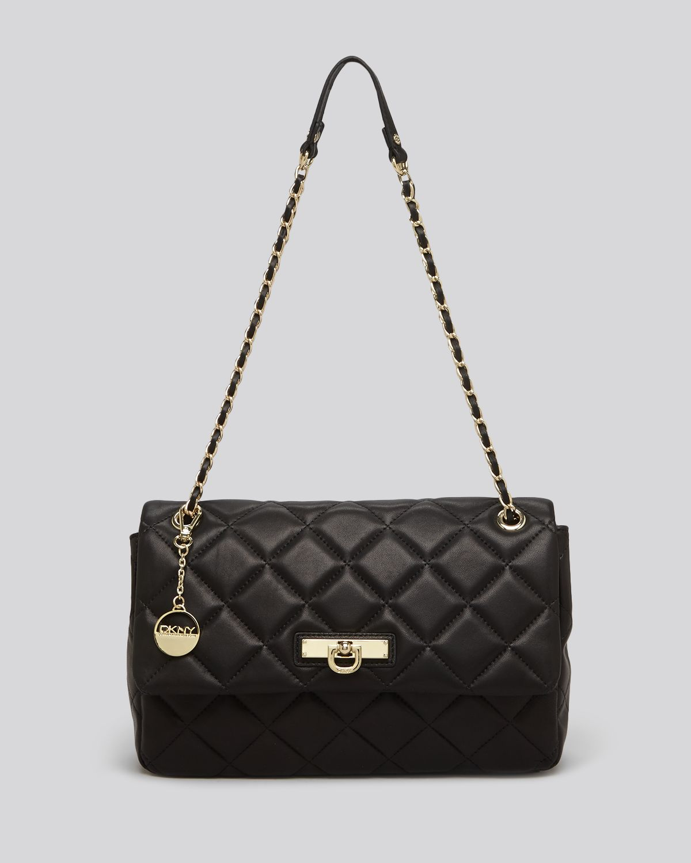 Dkny Shoulder Bag Gansevoort Large Quilted Nappa In Black