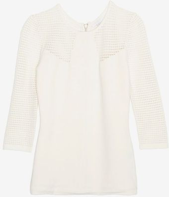 Exclusive For Intermix Perforated Knit Zipper Top - Lyst