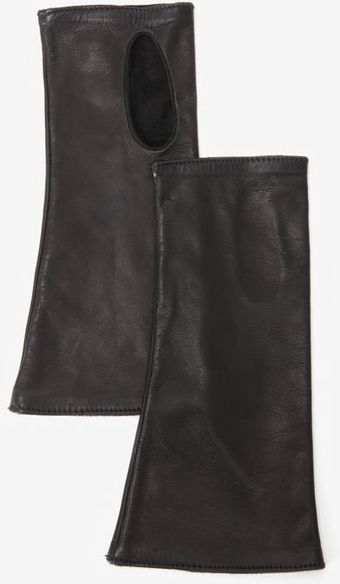 Jane Carr Leather Wrist Cuffs Black - Lyst