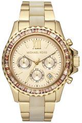 Michael Kors Womens Chronograph Everest Horn Acetate and Goldtone Stainless Steel Bracelet 42mm - Lyst