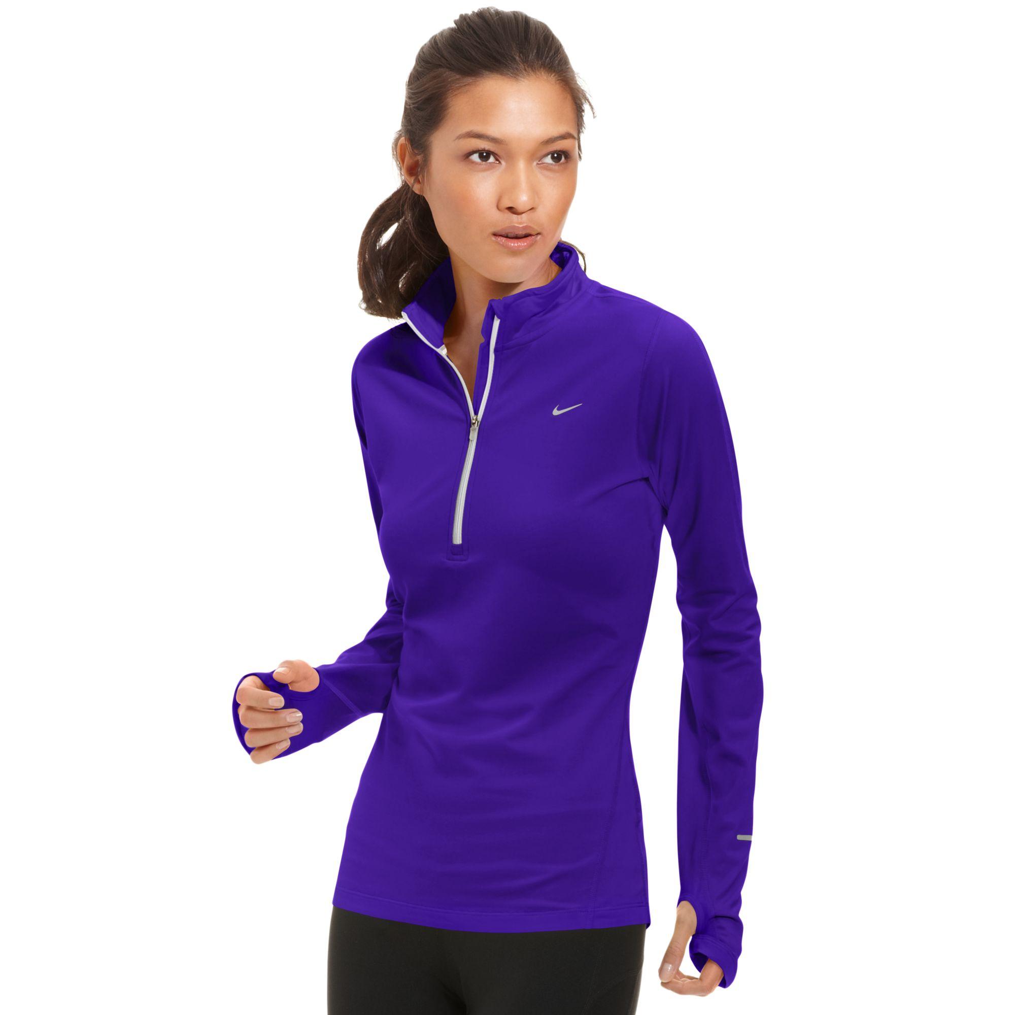 Nike Element Longsleeve Drifit Halfzip Pullover In Blue