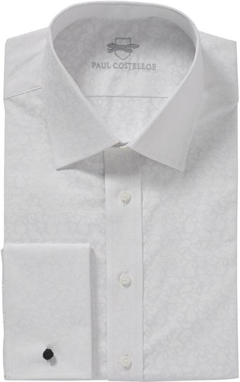 Paul Costelloe White Self Print Shirt - Lyst