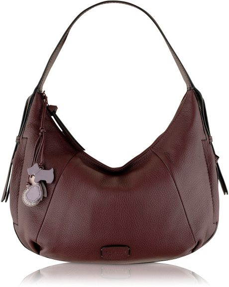 Radley Purple Medium Hobo Bag in Purple
