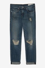 Rag & Bone Exclusive Destroyed Buckley Boyfriend - Lyst