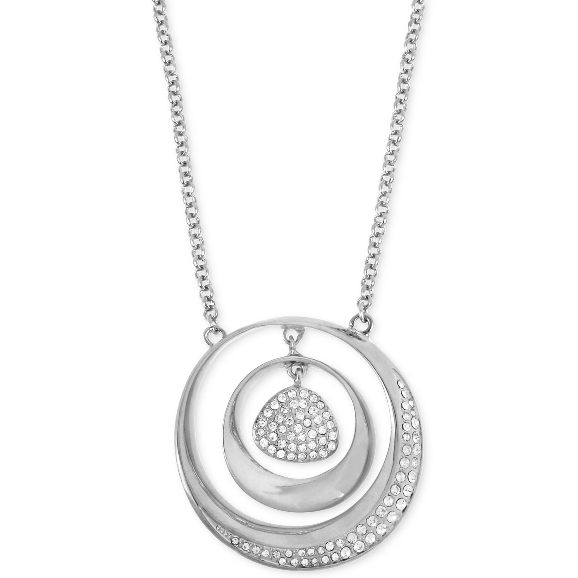 robert morris jewelry bar pendant necklace robert morris silvertone pave sculptural orbital
