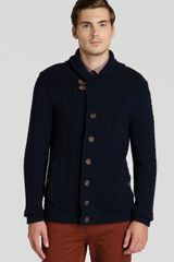 Ted Baker Jowalk Cable Knit Cardigan - Lyst