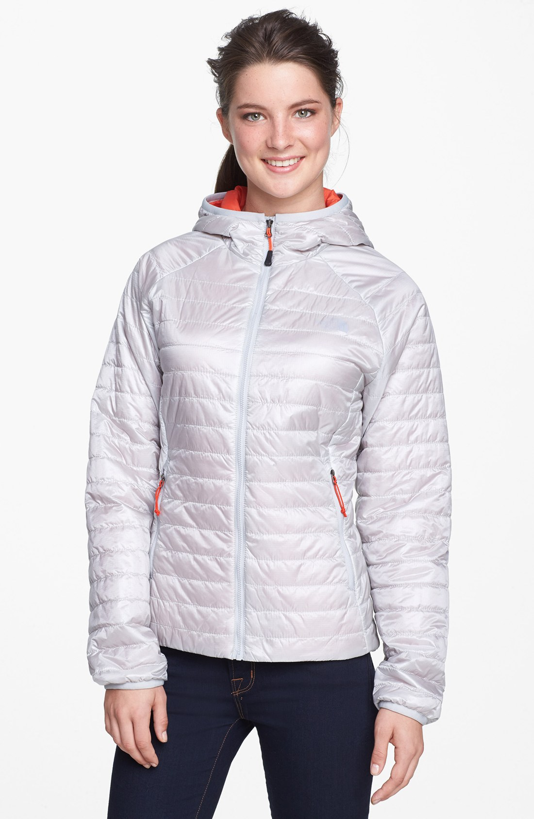 The North Face Blaze Hooded Flashdry Jacket In Gray High