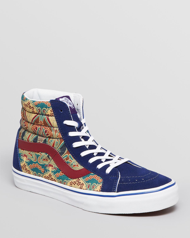 vans high top sneakers in blue for men blue depths lyst. Black Bedroom Furniture Sets. Home Design Ideas