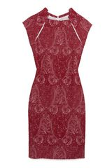 Yigal Azrouel Exclusive Jacquard Sheath Dress Red - Lyst